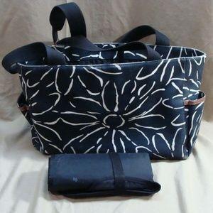 KATE SPADE CLOTH/CANVAS DIAPER BAG W/CHANGEING PAD